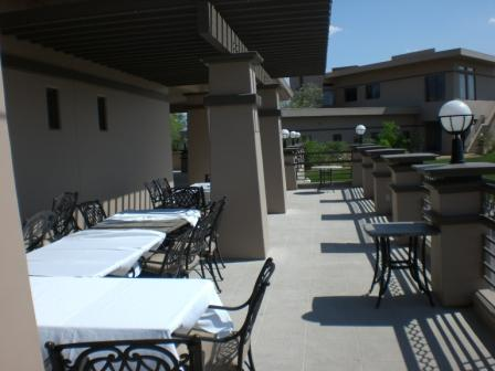 Patio overlooking City of Mesquite Nevada