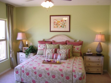 decorated master bedroom in Mesquite NV