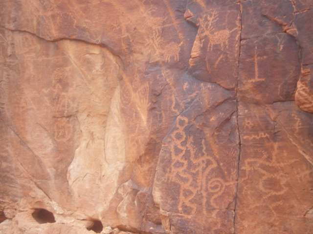 Petroglyphs in Red Rock