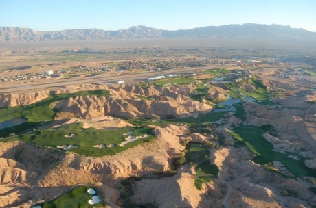 Wolf Creek Golf Course from plane
