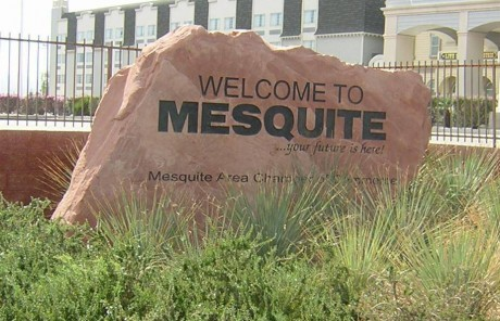mesquite welcome sign