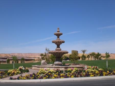 fountain in Mesquite nevada