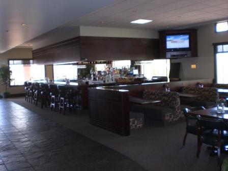 spacious bar inside restaurant