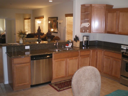 Kitchen of Sun City Mesquite retirement community in Nevada