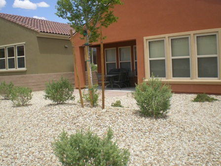Back yard of resort and retirement community in mesquite NV