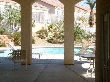 Mesquite NV view of the pool