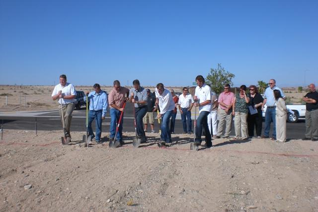 Scenic AZ groundbreaking for Shadow Ridge subdivision