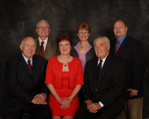 Mesquite City Council and Mayor Holecheck (in red)